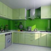 绿色清新厨房橱柜