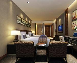 酒店卧室暖色调装饰