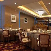 酒楼大厅桌椅装饰效果图