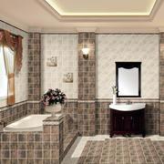 地中海简约风格浴缸装饰