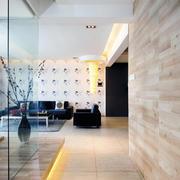 简约实用型复式楼极简背景墙设计