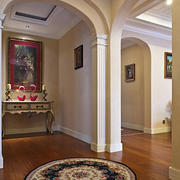 玄关简约风格客厅原木地板装饰