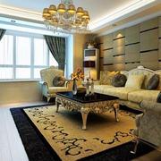 复式楼简约风格客厅地板效果图