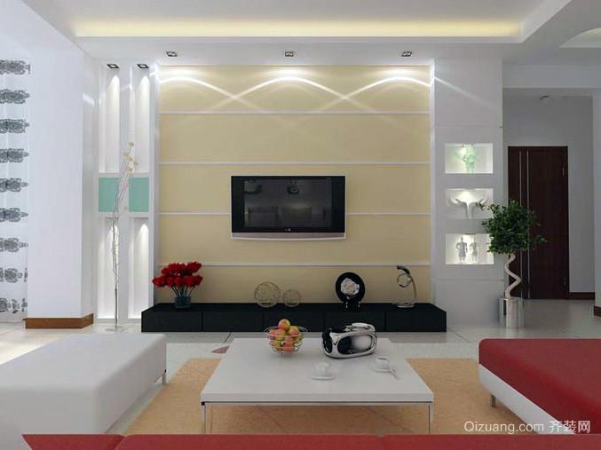 大户型客厅电视机背景墙装修效果图