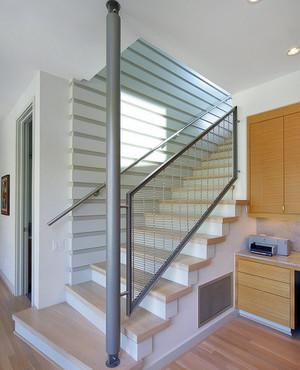 现代简约风格大型生活广场不锈钢楼梯扶手