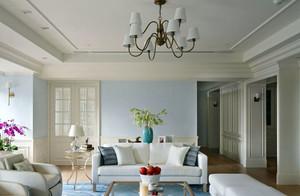 现代简约110平米三居室装修效果图