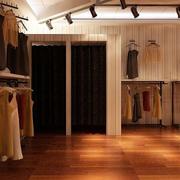 小服装店木地板装修