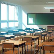 简约风格教室大型落地窗装饰