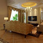 简约风格客厅地板装饰