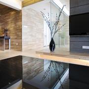简约实用型复式楼现代背景墙设计