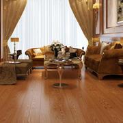 奢华深色系客厅原木地板装饰
