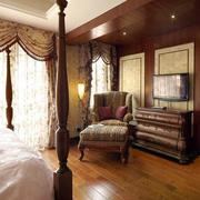 复式楼美式卧室地板装饰