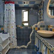 地中海清新浴缸装饰