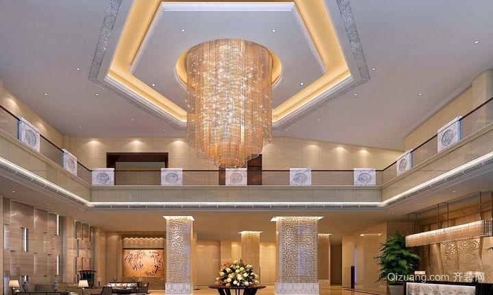 视野开阔的酒店大堂设计装修效果图