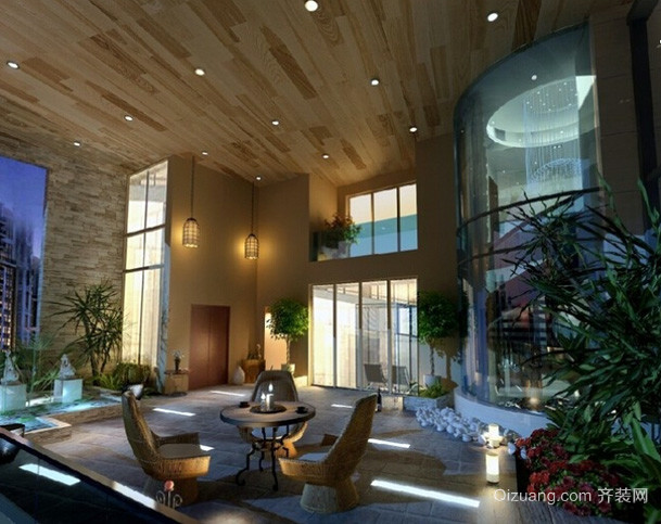 大型奢华欧美风格豪宅装修效果图