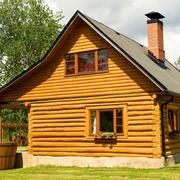 暖色调木屋设计图片