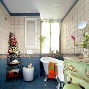 地中海简约白色浴缸装修