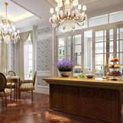 客厅奢华红木地板效果图