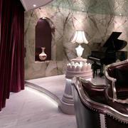 欧式奢华豪宅钢琴室装饰