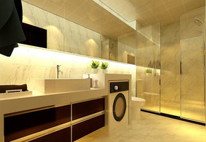 前卫时尚卫生间洗脸盆柜效果图