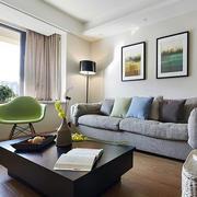 混搭风格客厅实木茶几装饰