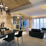 现代超级简约大气型客厅灯光