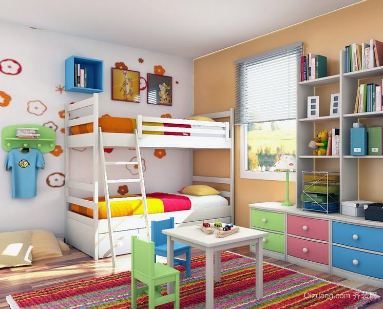 都市大户型儿童房背景墙装修效果图