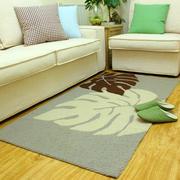 树叶图案客厅地垫装饰