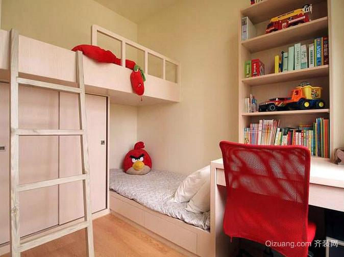 85平简洁宜家两居室室内设计效果图