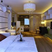 欧式简约风格豪宅客房装饰