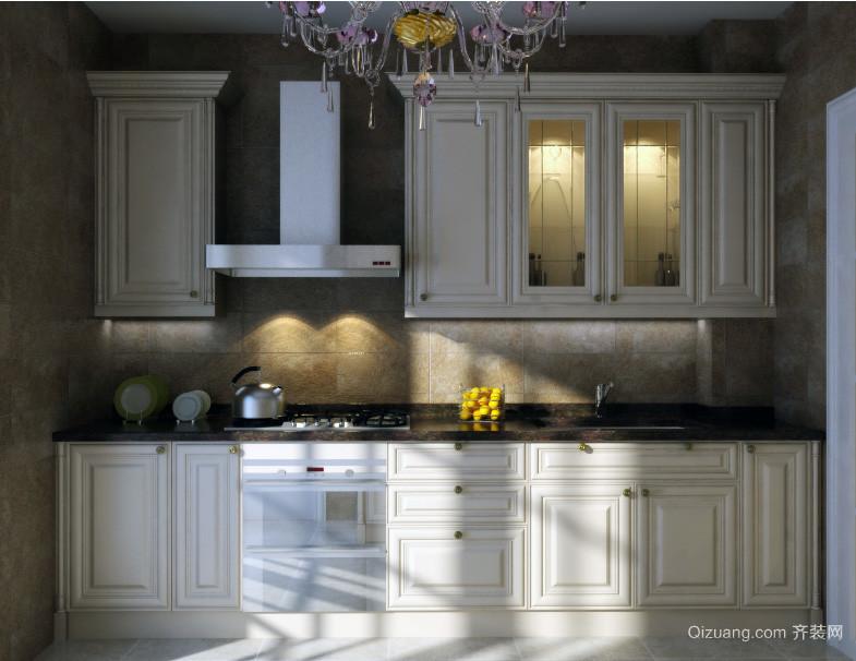 欧式大户型厨房装修设计效果图