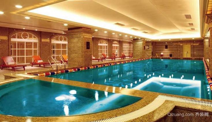 清澈透明 大型游泳池设计图片