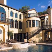 美式风格豪宅整体外观图