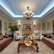 美式风格豪宅客厅效果图