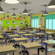 简约风格学校教室吊顶灯饰设计