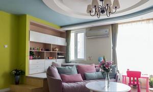 三居室现代客厅装潢