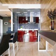 简约实用型复式楼餐厅装修图