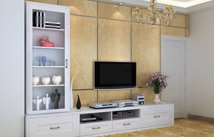 浪漫温馨欧式电视柜装修效果图