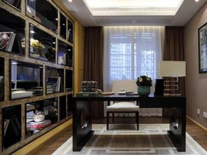 后现代风格深色系整体书架装饰