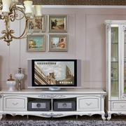 白色优雅的电视柜