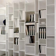 现代简约风格白色系书架装修