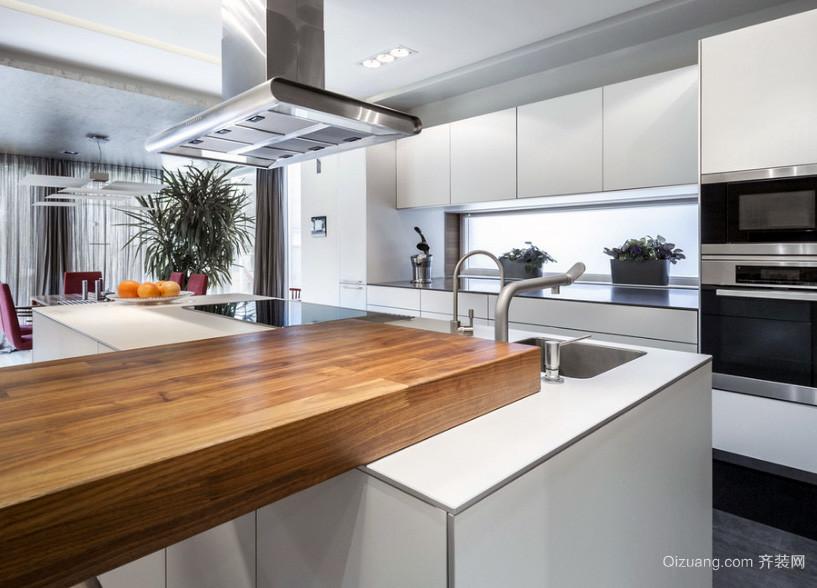 欧式大户型开放式厨房装修效果图