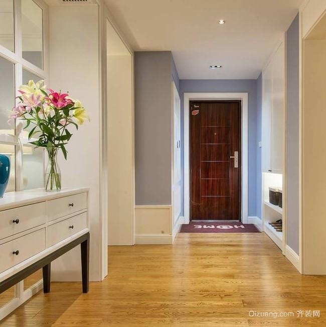 现代美式110平米三居室室内设计效果图