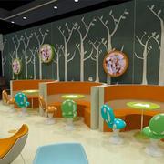 简约风格儿童餐厅背景墙装饰