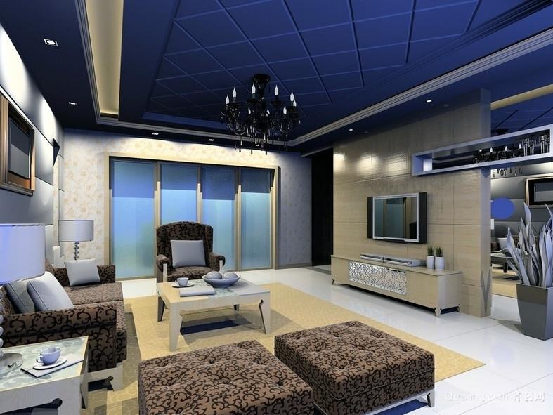 现代欧式小户型室内吊顶装修效果图