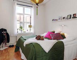 简约北欧风格卧室水曲柳饰面板装修效果图