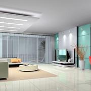 清雅的客厅整体设计