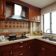 室内美式厨房橱柜
