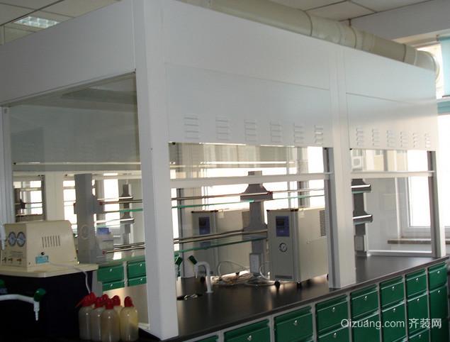 现代简约风格大型实验室装修效果图