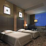 宾馆卧室整体设计